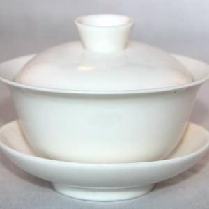 Hvid porcelæn Gaiwan 100 ml.