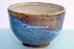Blå-violet håndlavet ler Chawan