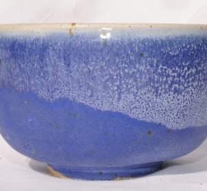 Sommer blå skål til matcha te