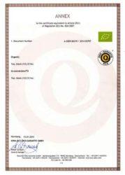 Qimen Oganic certificate
