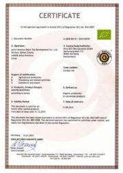 Qimen Oganice certificate 2
